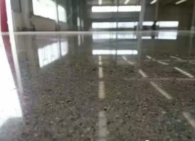 水磨石固化,抛光水磨石地面应用效果